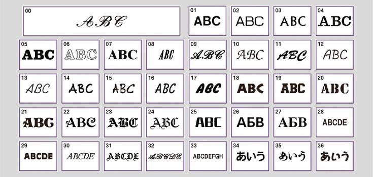 37 einprogrammierte Alphabete und 538 Stickmotive inklusive Monogramme