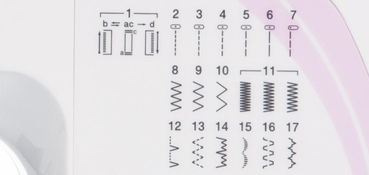 17 einprogrammierte Stiche